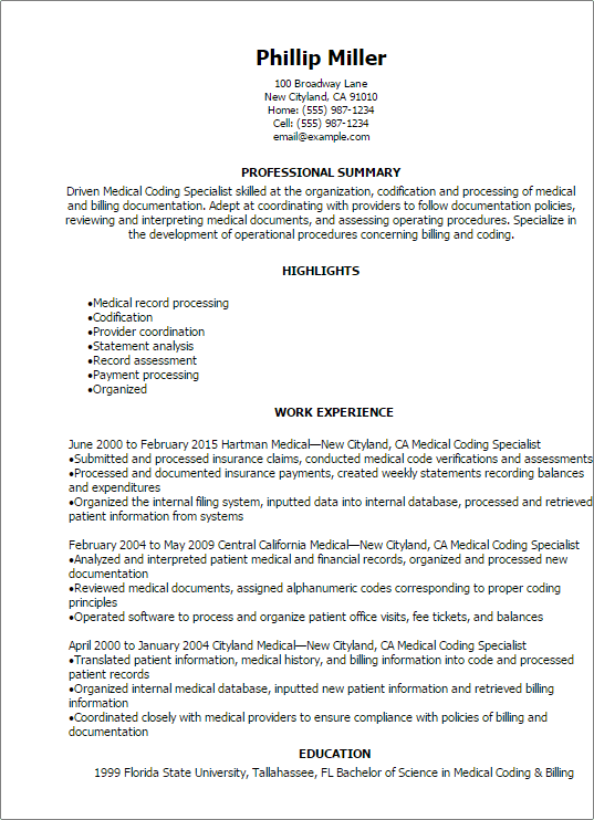 aaaaeroincus winsome professional medical coding specialist resume