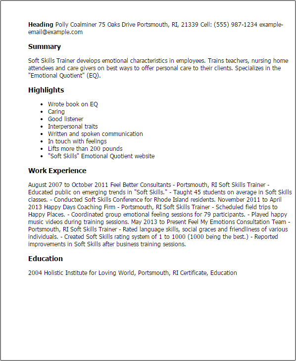Resume Sample Childcare Jennifer Smith Care Resume