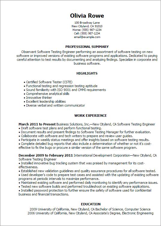 Sql Sample Resume Job Resume Sample Pdf Sample Resume Pdf Qa Tester Resume  Qa Tester Resume