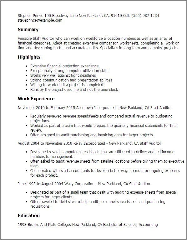 Auditor Resume Examples. Auditor Resume Sample Indeed Upload