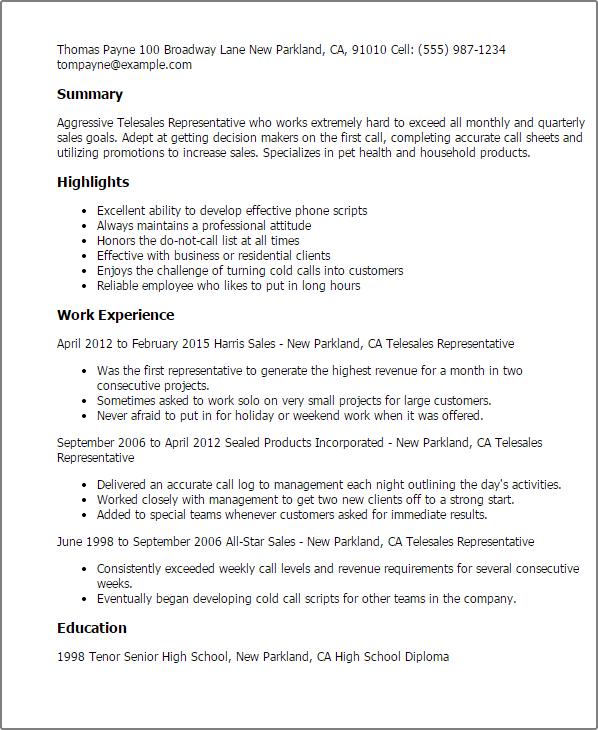 Resume Opening Letter