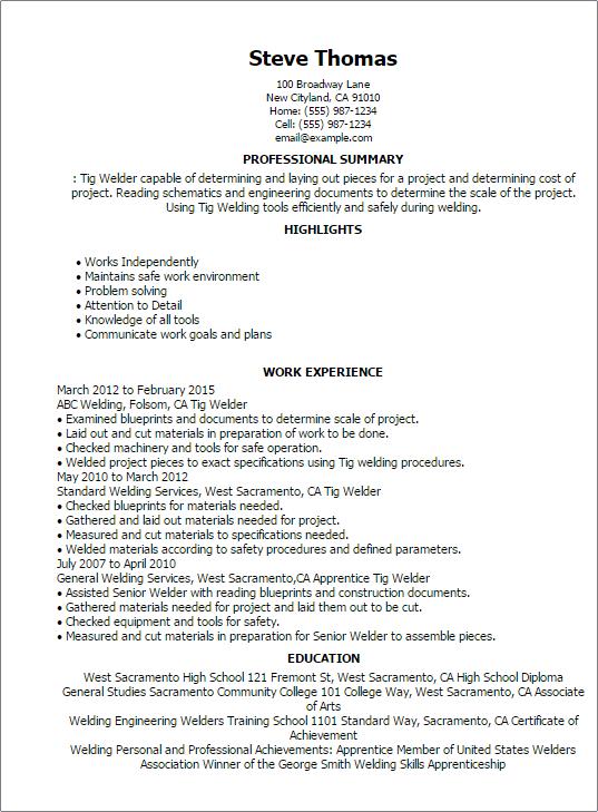 welder resume sample resume templates welder resume sample doc