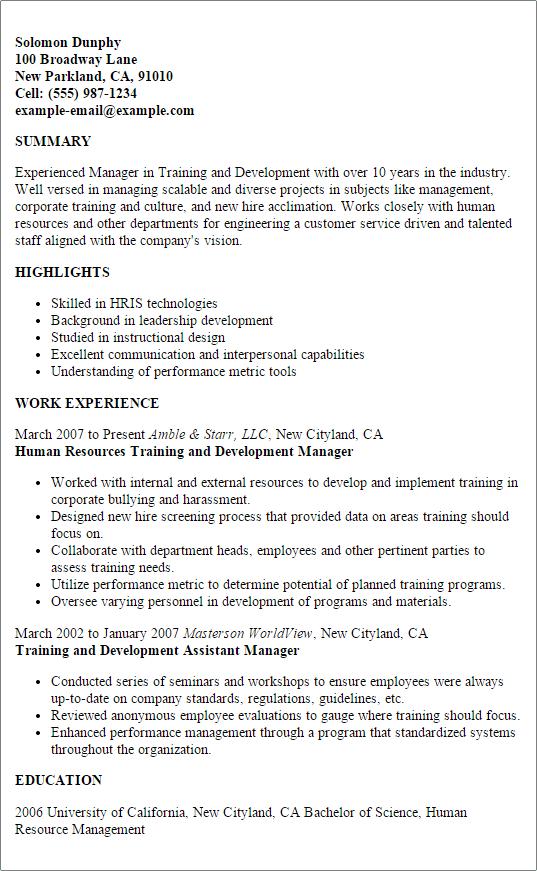 resume design training example training consultant resume free