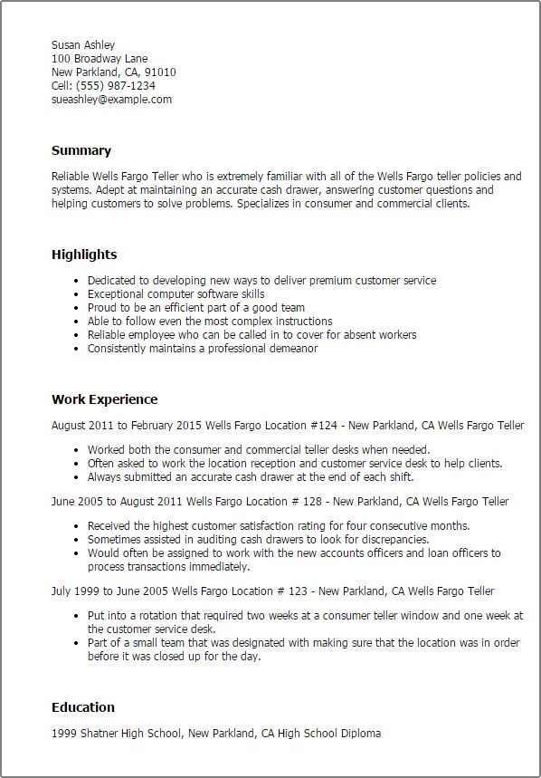 Teller Position Resume Objective. Teller Resume Objectives Writing