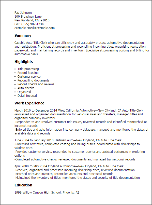 Title Your Resume Examples. Examples Of Resume Titles Best Resume