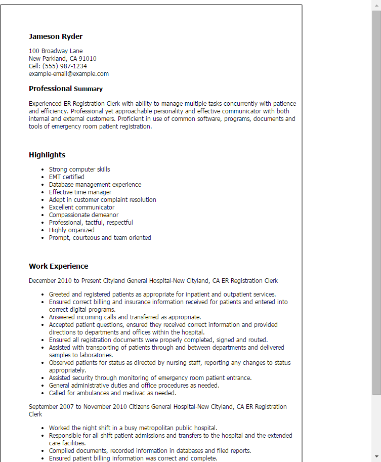 Perfect Resume Example Pdf. Resume Sample Of The Perfect Resume