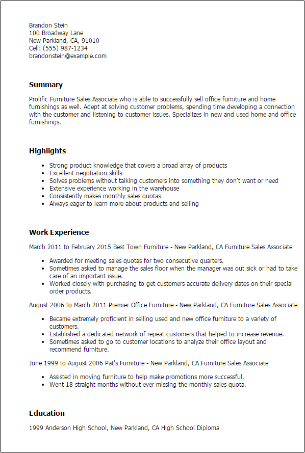 Sales Associate Resume Skills. Sales Associate Resume Retail Sales