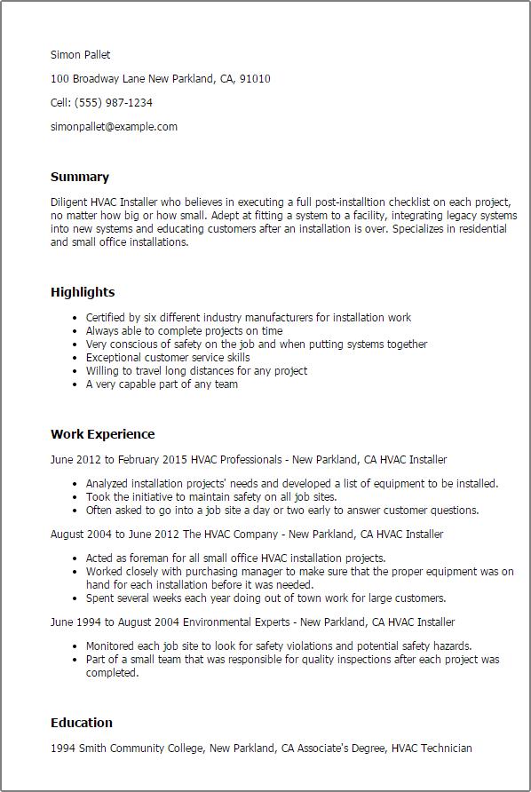 Carpet Installer Job Description Resume Www Stkittsvilla Com