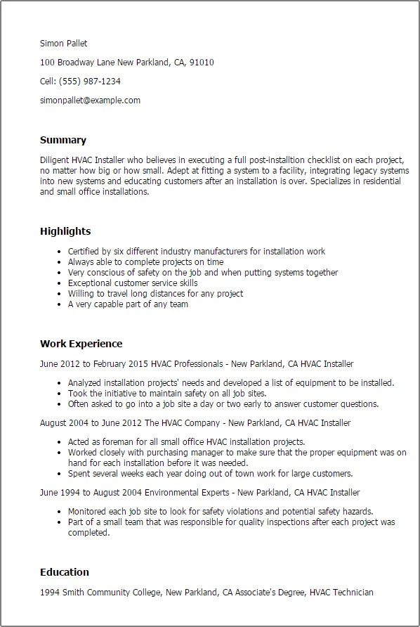 carpet technician job description for resume