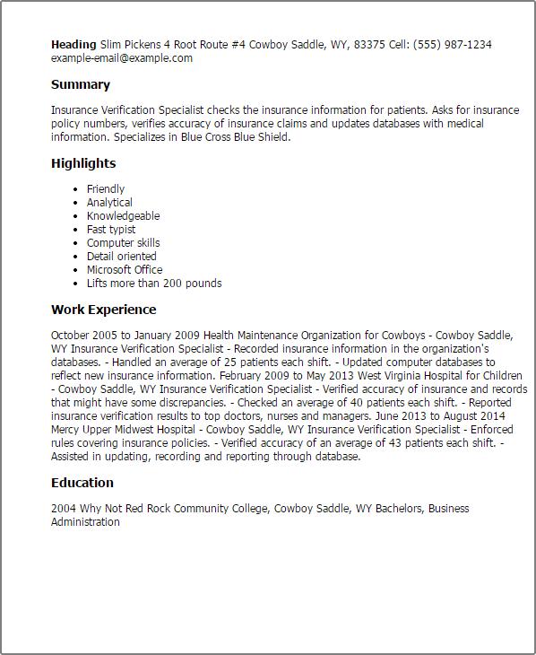 Resume For Insurance  insurance broker resume samples