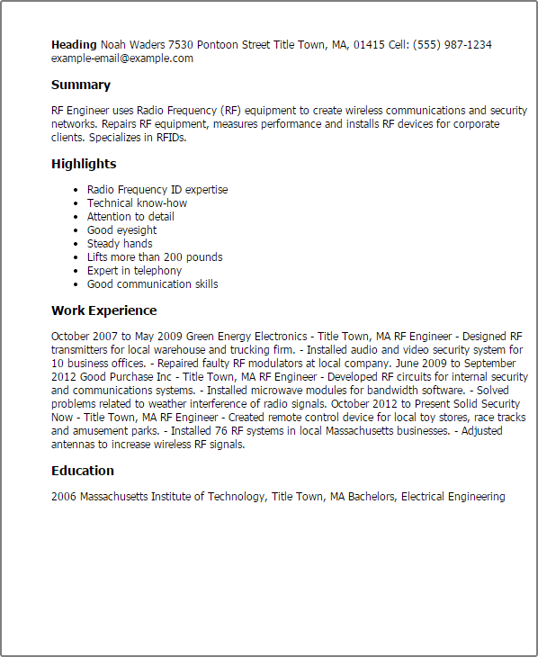 Web Tester Resume Sample: Automated Test Equipment Resume Ma