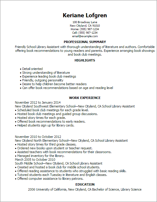 school library media specialist resume samples accomplishment