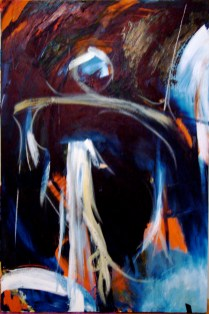 "Oil on Canvas 34"" x 24"" '96-'99"