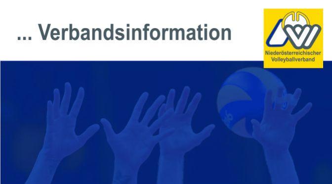 Information des NÖVV – Einstellung des Spielbetriebes