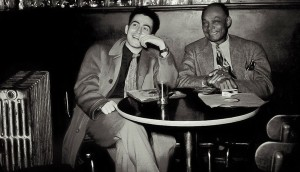 A young Nat Hentoff with clarinetist Edmond Hall