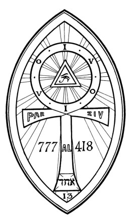 The lamen of Charles Stansfeld Jones, Frater Achad, in Aleister Crowley's magical order