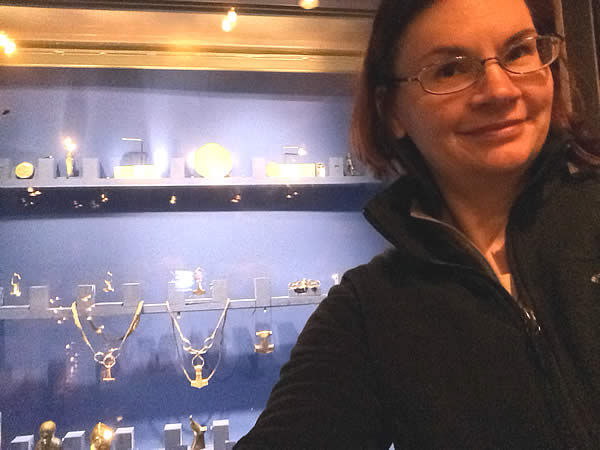 The author at the Swedish History Museum in Stockholm. Photo by author