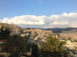 Looking NE from St. Peter's to the old city and Mt. of Olives