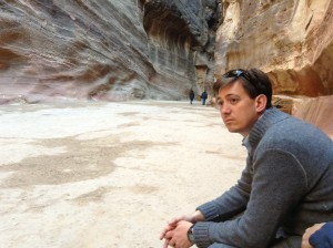 Ben contemplates his words, at Petra.