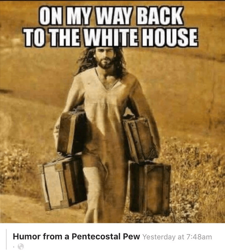No, Jesus is not Headed to the White House. Here's Why.