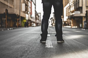 standing road