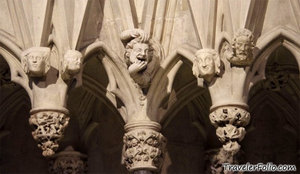 Some of the stone figures in York Minster that Norrell brings to life. Any resemblance to Church politics is purely coincidental.