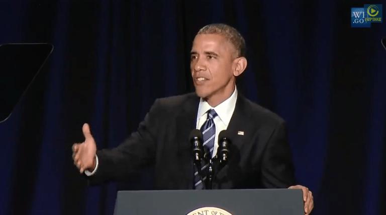 President Barack Obama speaks during the National Prayer Breakfast in Washington, Feb. 5, 2015.