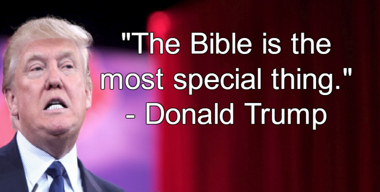 Image result for trump and bible