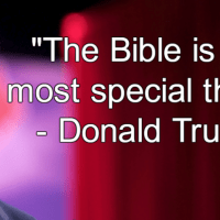 Donald Says It's in the Bible (Somewhere)