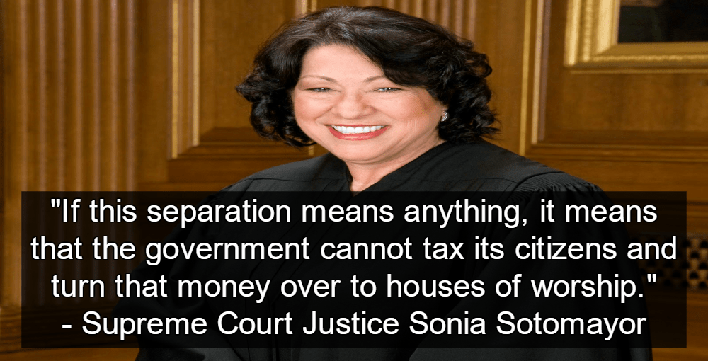 Texas Churches Sue FEMA For Disaster Relief After Harvey (Image Justice Sonia Sotomayor via Scrreen Grab)