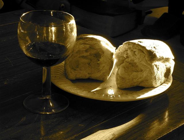Communion Bread And Wine Combo