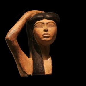 Mourner, thought to represent the goddess Isis mourning Osiris