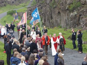 """Þingblót 2009"" by Photograph by Lenka Kovářová - E-mail from Lenka Kovářová. Licensed under CC BY-SA 3.0 via Wikimedia Commons - https://commons.wikimedia.org/wiki/File:%C3%9Eingbl%C3%B3t_2009.jpg#/media/File:%C3%9Eingbl%C3%B3t_2009.jpg"