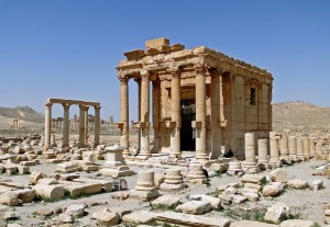 """""""Temple of Baal-Shamin, Palmyra"""" by Bernard Gagnon - Own work. Licensed under CC BY-SA 3.0 via Wikimedia Commons - https://commons.wikimedia.org/wiki/File:Temple_of_Baal-Shamin,_Palmyra.jpg#/media/File:Temple_of_Baal-Shamin,_Palmyra.jpg"""
