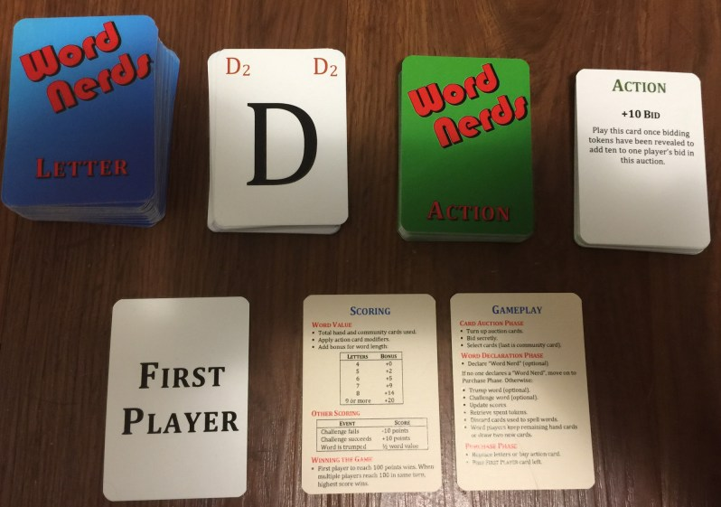 Picture of Word Nerd cards.