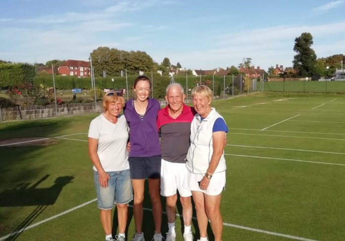 Holly Bower and Mary Blackie, Runners-up Ladies Doubles Handicap 2018