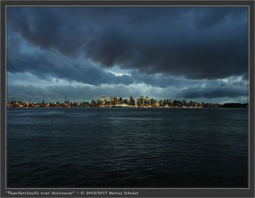 Thunderclouds over Vancouver