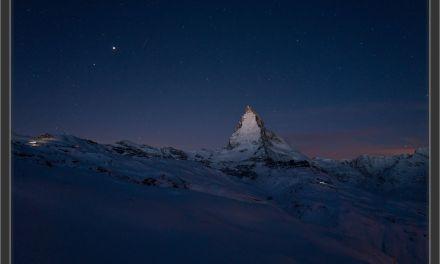 2017-10: Zer-Matterhorn bi Stärne-, Mond- u Sunneschin