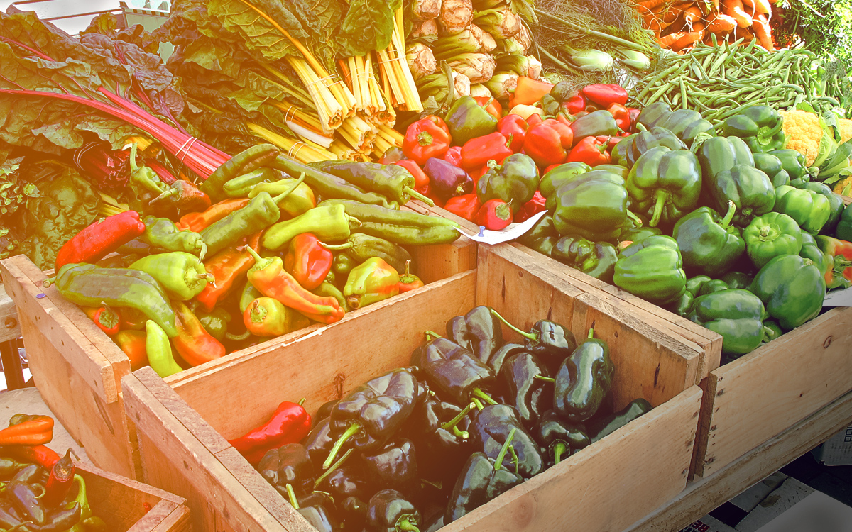 Take advantage of the local farmers market