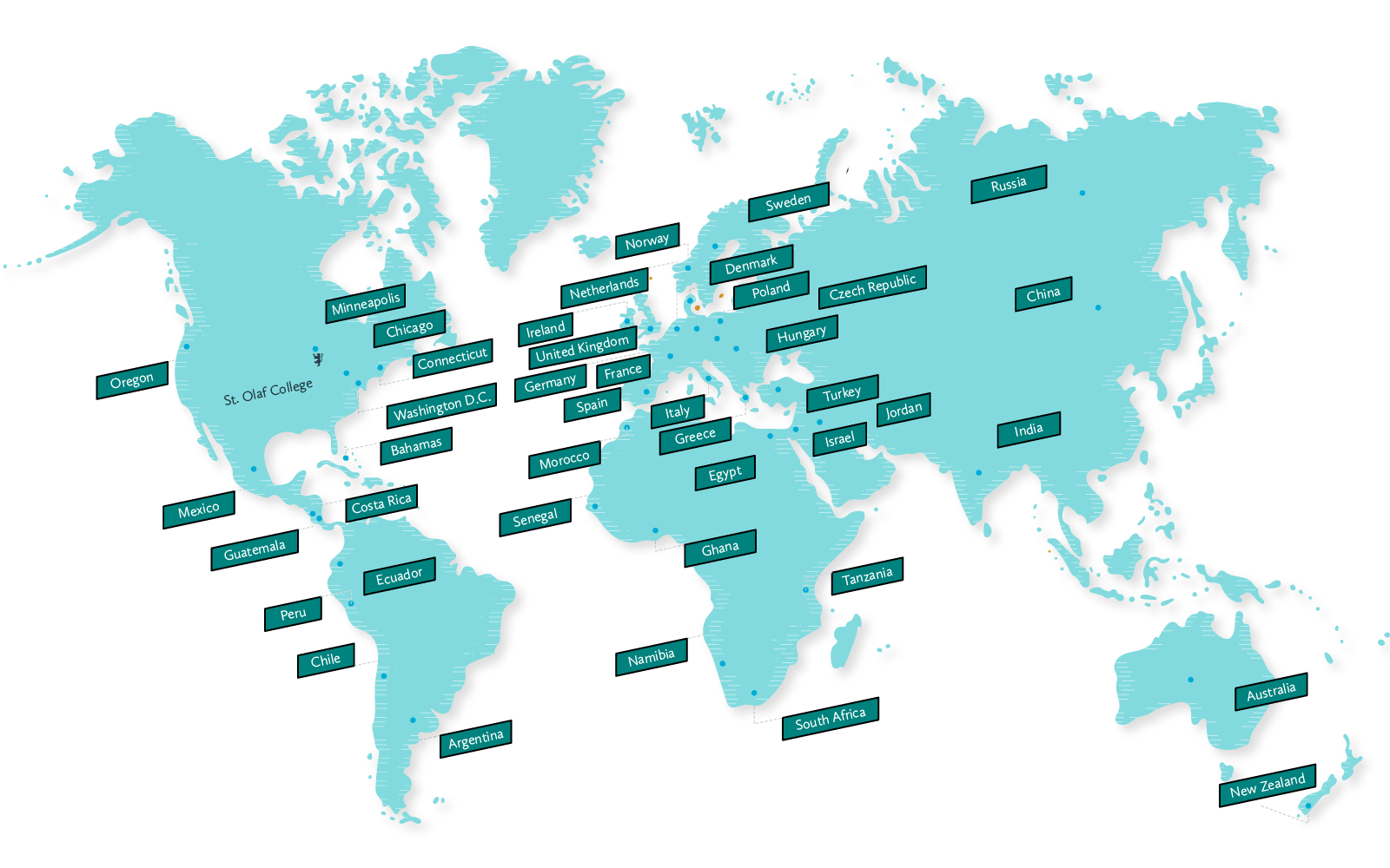 Large Map - Study Abroad Programs