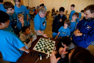 A group of campers from Ole Chess Camp