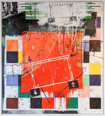 Wendell H. Arneson (United States, b. 1946)Pressure Points, 2014oil on canvasGift of Wendell Arneson2019.11.3