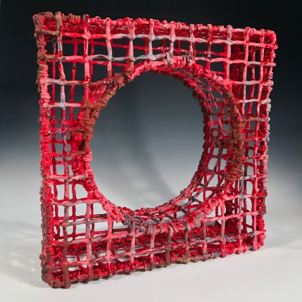Courtney Leonard (United States, Shinnecock, b. 1980)Subsistence (Red Tide), 2018ceramicPurchased by Flaten Art Museum through a gift from Arlyss Roeber Becker '592019.2.2