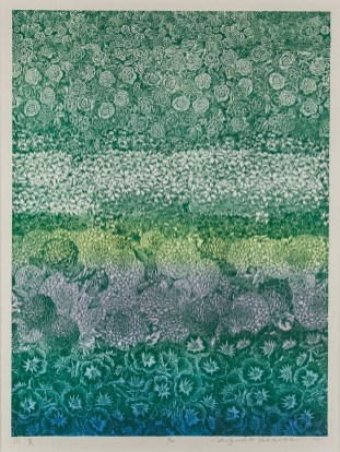 Chizuko Yoshida (Japan, 1924-2017)Scenery, 1975wood block on paperGift of Eugene '52 and Margaret '53 Skibbe2017.12.2