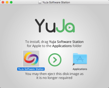 Drag YuJa Software icon to the Applications folder.