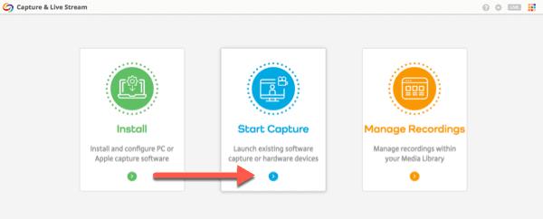 Select Start Capture