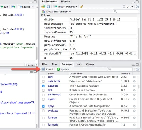 RStudio Layout – Information Technology