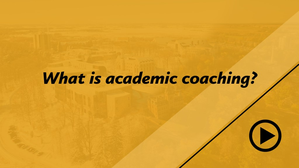 What is academic coaching?