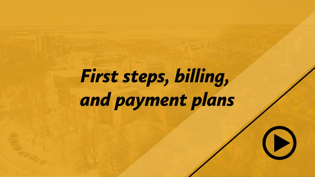 First steps, billing, and payment plans