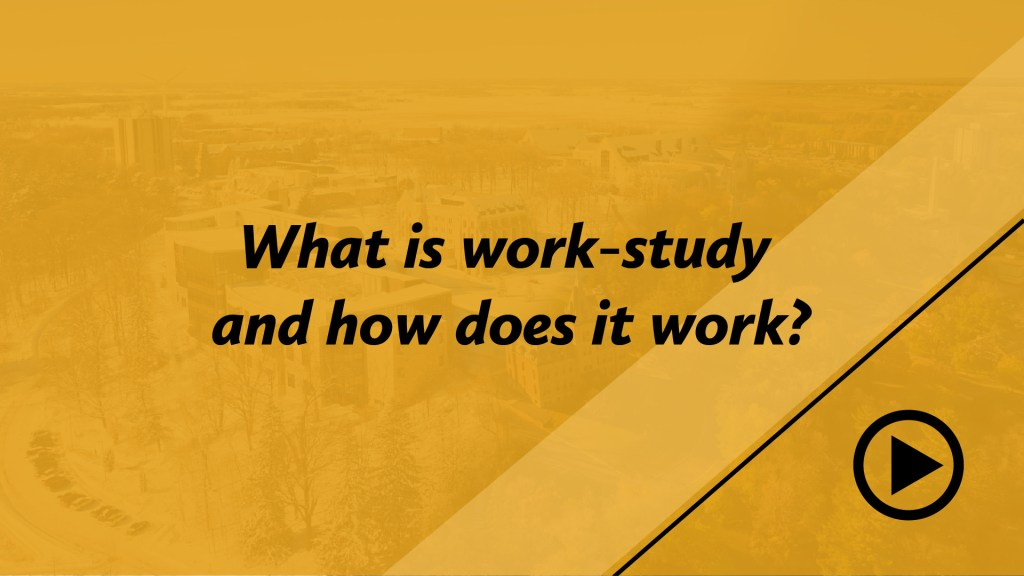 What is work-study and how does it work?